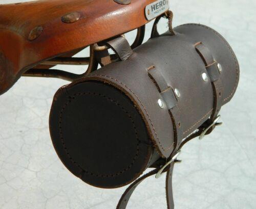Leather Comfortable Soft Vintage Bicycle Saddle Tool Bag Box Cycling Cycle