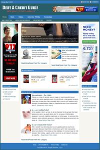 DEBT & CREDIT - Professionally Designed Affiliate Website - Free Installation