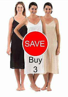 New Cotton Long Maxi Dress Slip Combination -  Celine Three Pack Deal, XS - 3XL