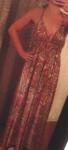 Topia Metallic Paisley Print Dress