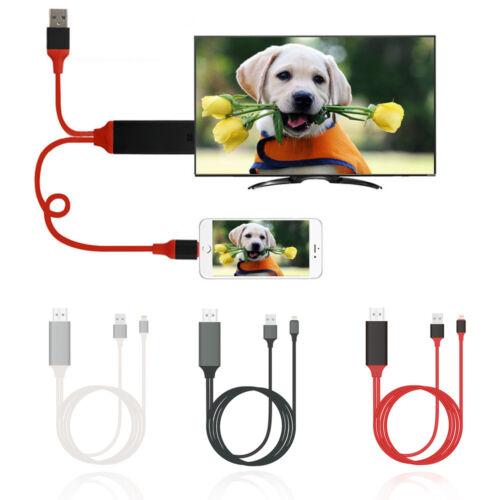 Lightning to HDMI Digital AV TV Adapter Cable For AppleIphone 6 7 8 Plus X Ipad
