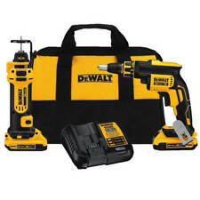 DEWALT DCK263D2 20V MAX Lithium-Ion Cordless Drywall Screwgun & Cut-Out Tool Kit