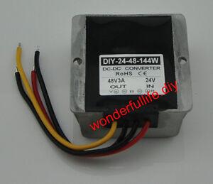 48W WaterProof 2A DC//DC Step-UP Power Converter Regulator 12V to 24V