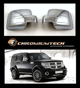 Image Is Loading Dodge Nitro Jeep Patriot Chrome Door Mirror Wing