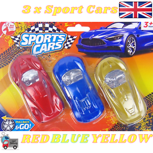 Pull Back And Go 3 Cars Toys Children Mini Model Sport Car Kids Red Blue Yellow