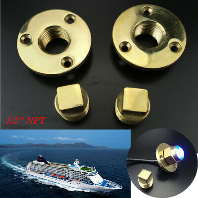 1/'/' Hole 1X Oval Garboard Drain Plug 316 Stainless Steel Boat Thread for 3//4/'/'