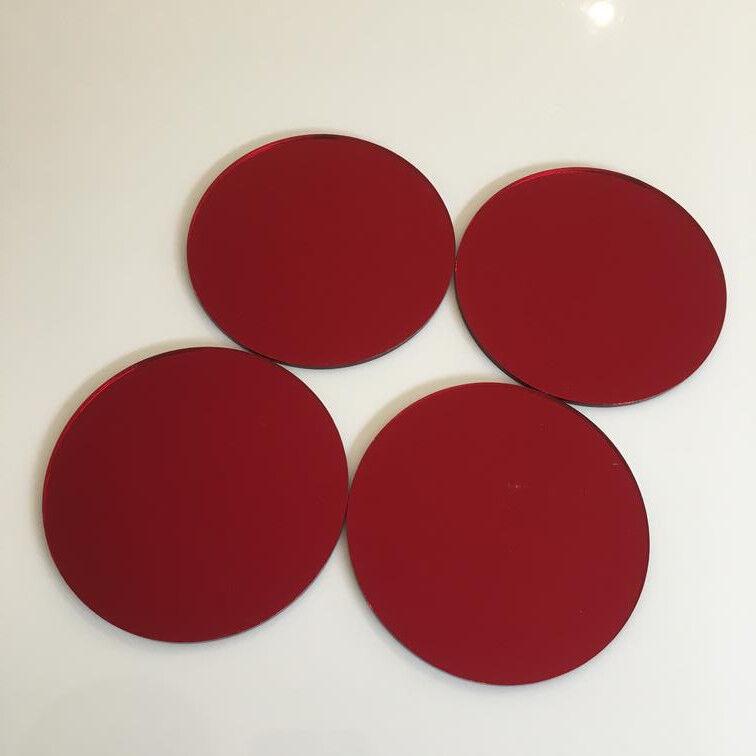 Kreis Acryl Wandfliesen - rot Spiegel