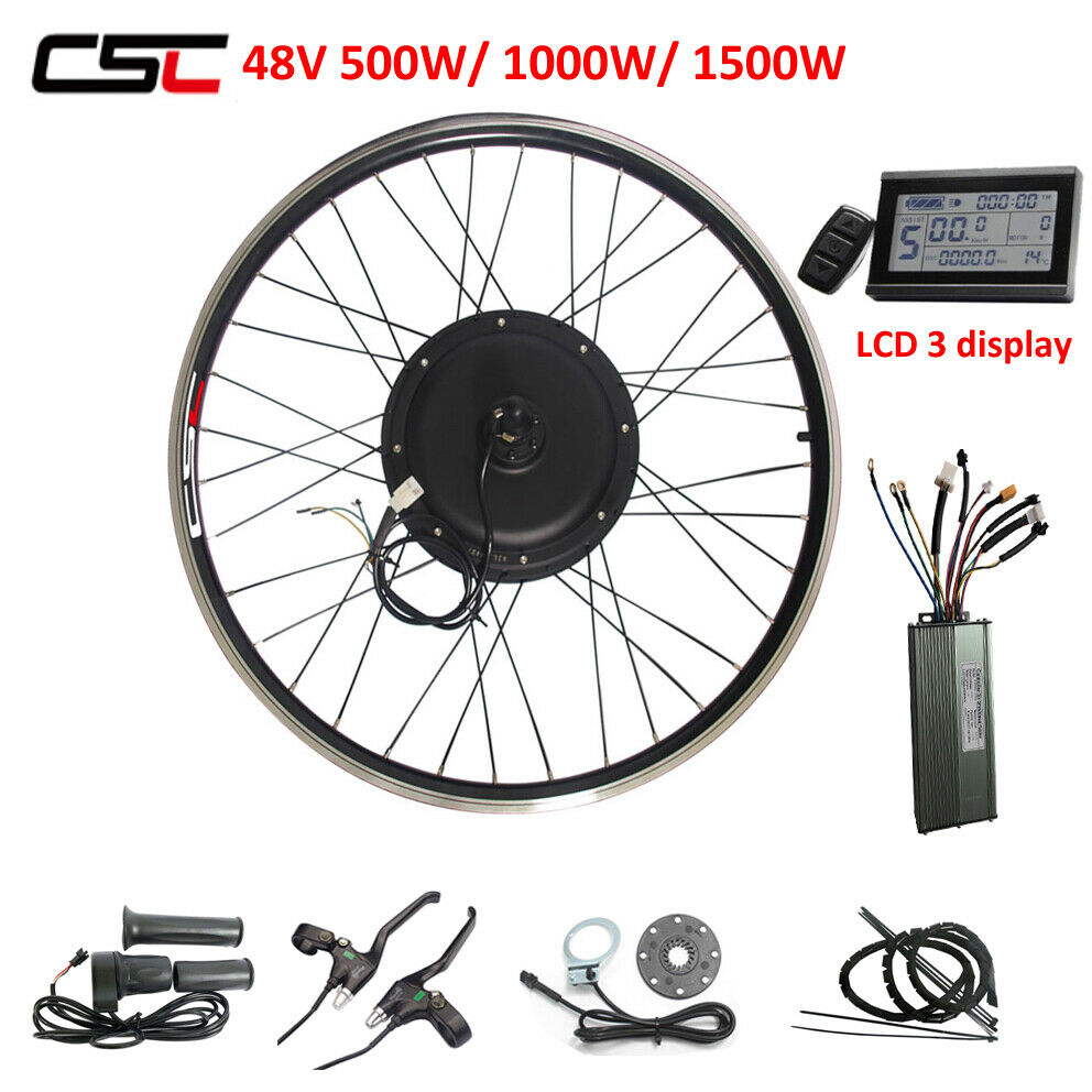 Ebike 48V 500W electric bike conversion kit With KT  LCD  3 display regeneration  authentic quality
