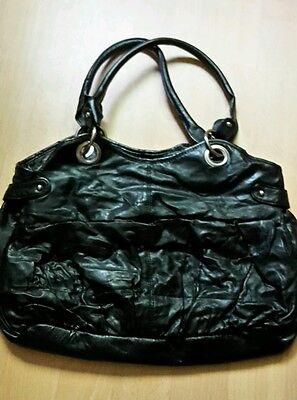 Schwarze H&M Basic Handtasche Damentasche Kunstleder