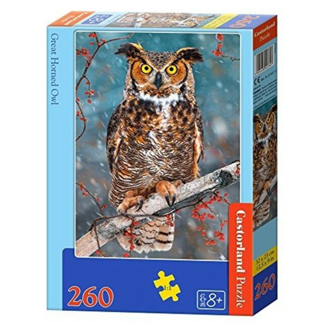 Great Horned Owl - 260 Pieces - Castorland Jigsaw Classic Csb27347pc Puzzle