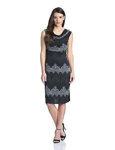 Authentic Trinidad Uk Desigual Cowl Vest Eu Taglia L 14 Black Neck Dress qrfgq