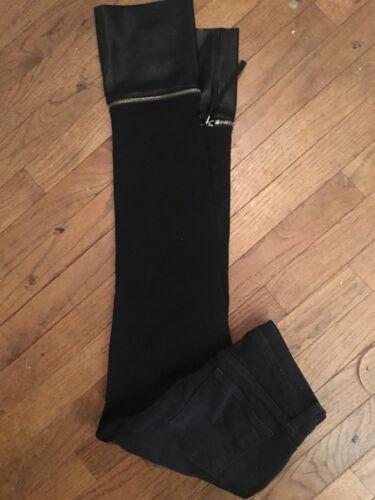 J Brand Skinny Black Leather Jeans  26 Black Leath