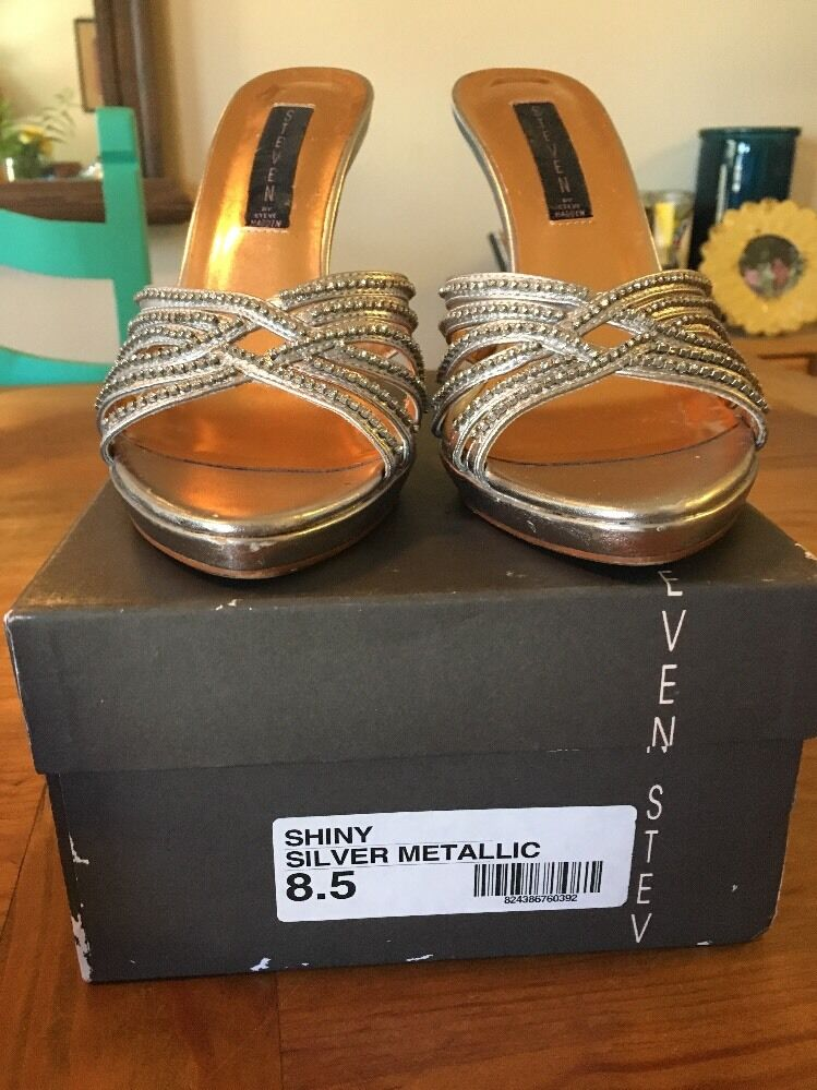 Steve Madden Silver Stilettos 8.5