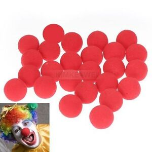 25-Red-Foam-Clown-Nose-Circus-Party-Halloween-Costume