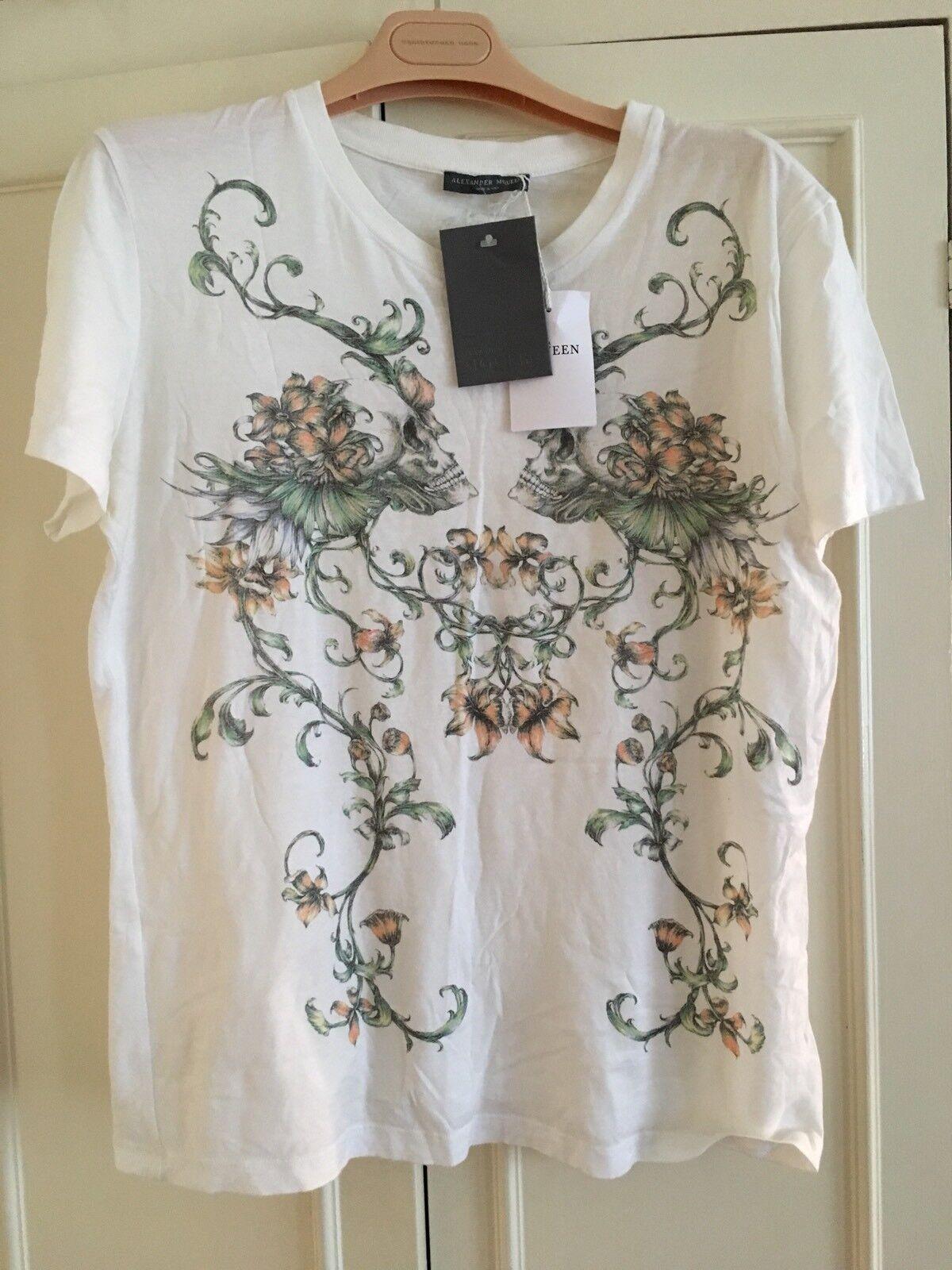 LAST HOURS  alexander mcqueen Womens White Tshirt Size 44 BNWT