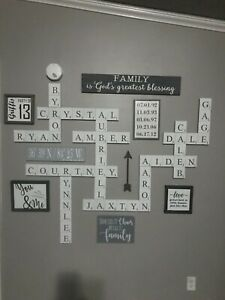 Wall Art Scrabble Tiles Letters