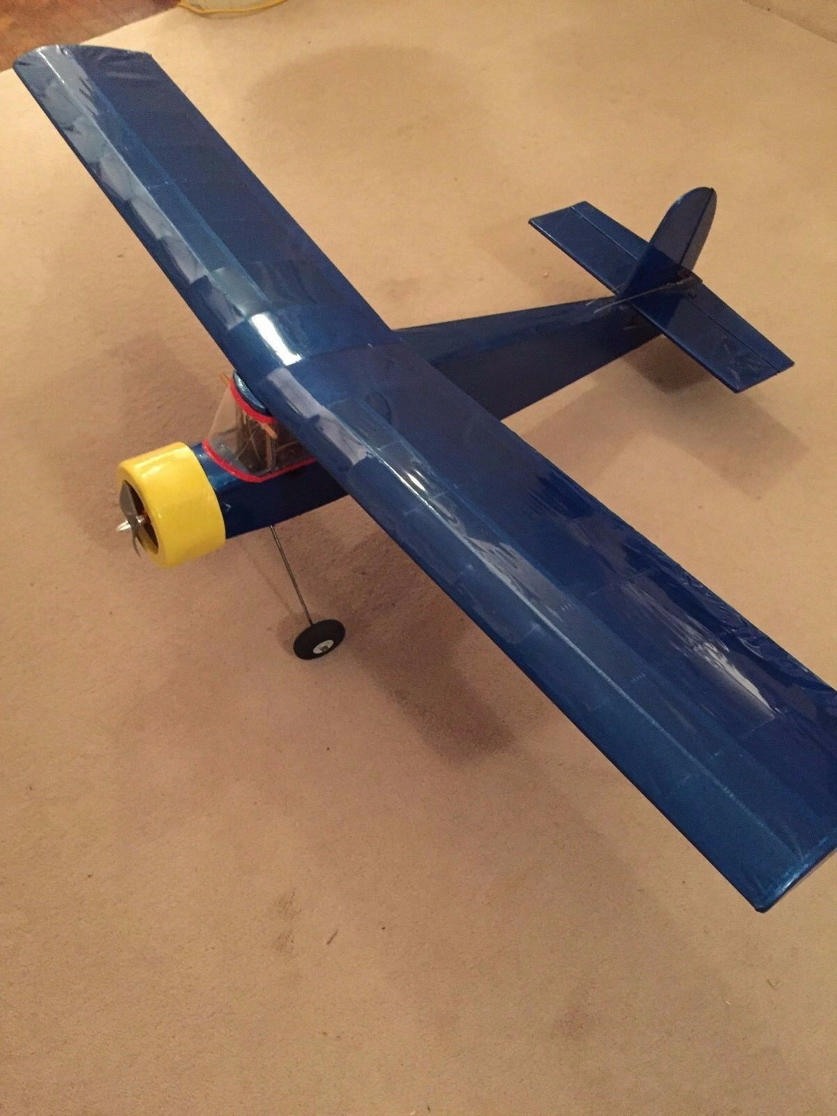 RC Radio Controlled 48  Span Quo Vadis Aircraft Aeroplane 3 Channel ElectricUsed