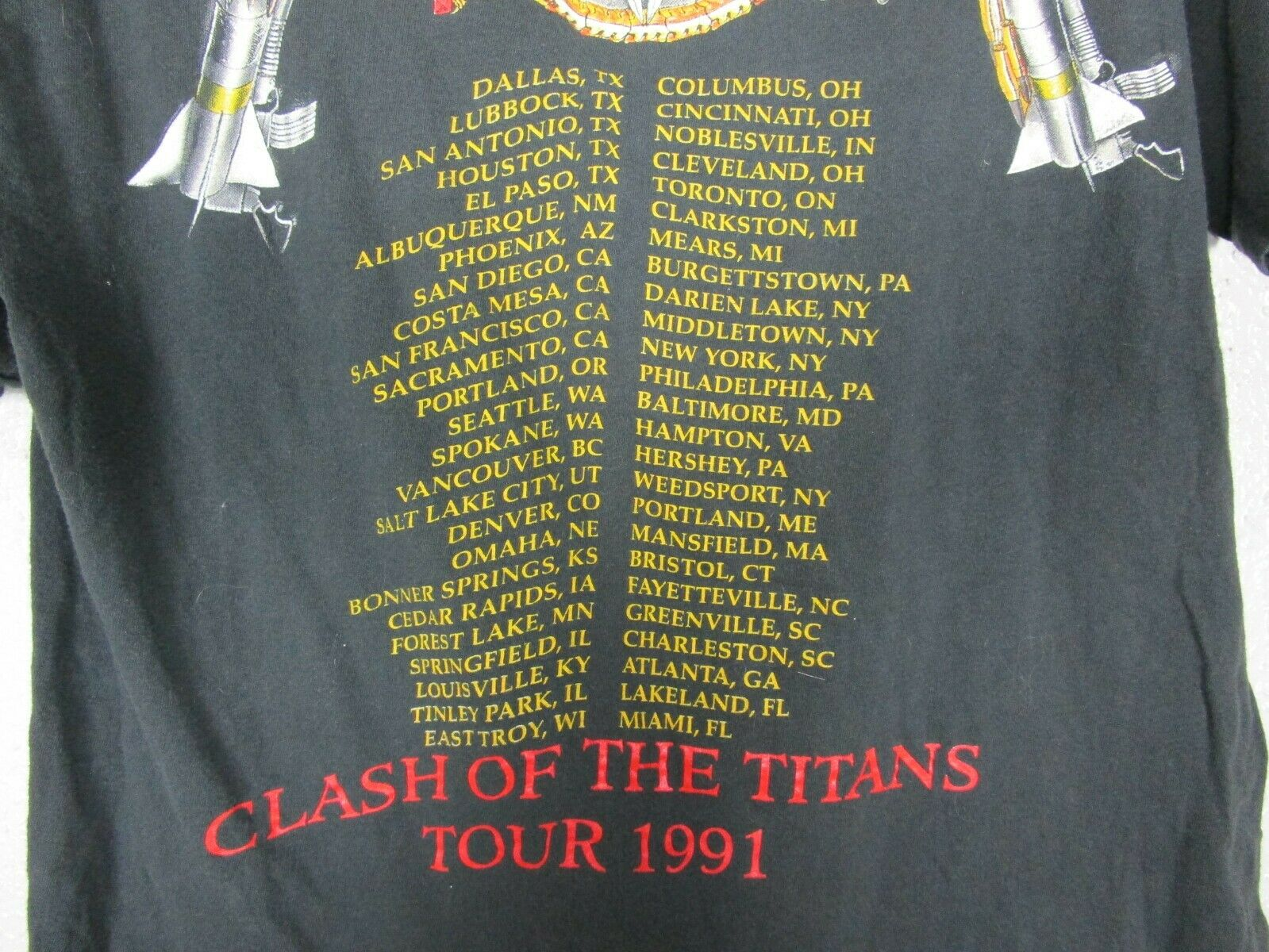 Vintage 1991 SLAYER CLASH OF THE TITANS T-SHIRT R… - image 10