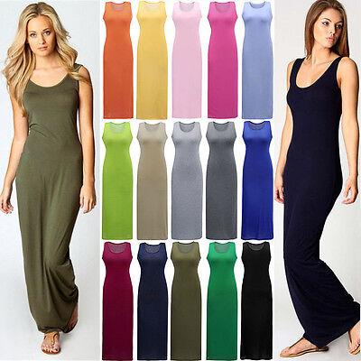 Hot Summer Maxi Dress Casual Holidays Sleeveless Long Dresses 3 Colour 5 Size