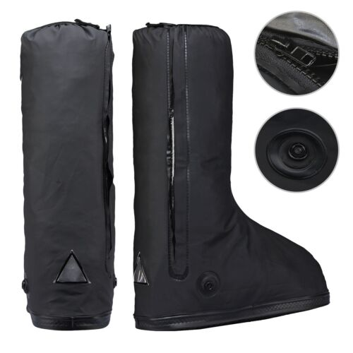Black Waterproof Rainstorm Rainy Day Motorcycle Outdoor Boots Cover Protector