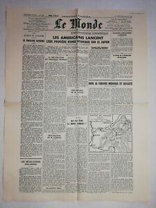 N1193-La-Une-Du-Journal-Le-Monde-8-aout-1945-bombe-atomique-sur-le-Japon