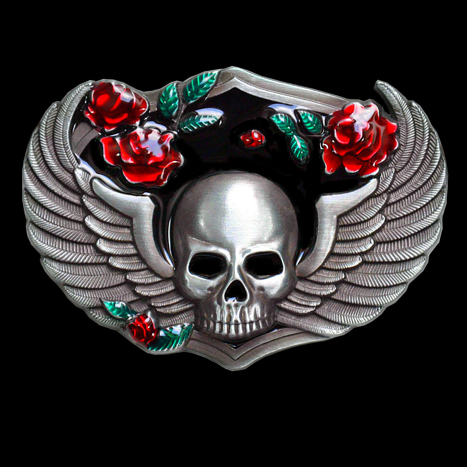 * Skull Gothic Totenkopf Rockabilly Biker Punk Gürtelschnalle Buckle Damen *304