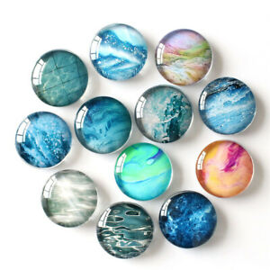 4-Ocean-Fridge-Magnets-30mm-Round-Glass-For-Kitchen-Refrigerator-Magnet-Sticker