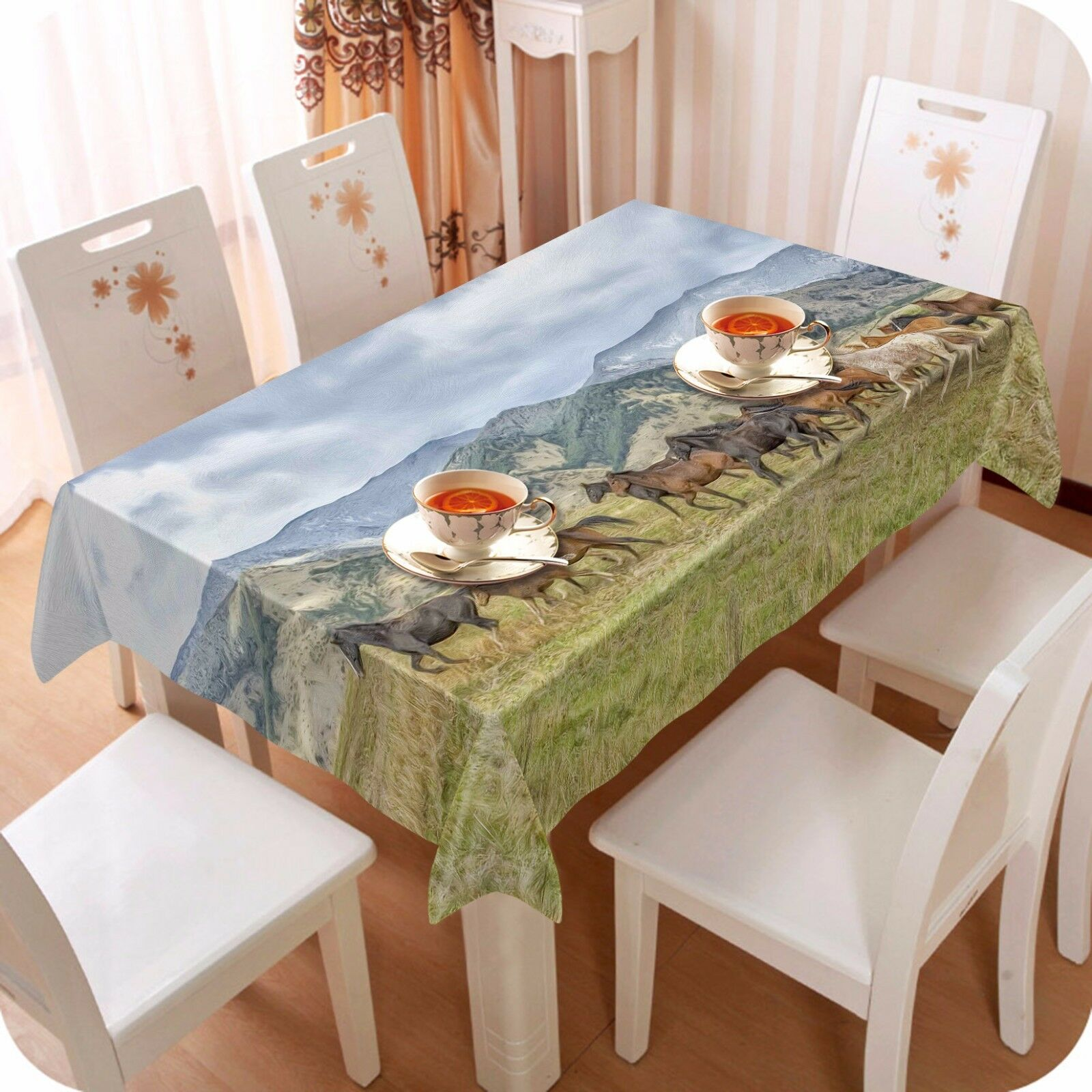 3D Horse 4793 Tablecloth Table Cover Cloth Birthday Party Event AJ WALLPAPER AU