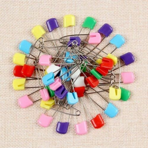 30pcs Multi Color Baby Safety Pins Security Cloth Locking Clip Paper Diaper Pins