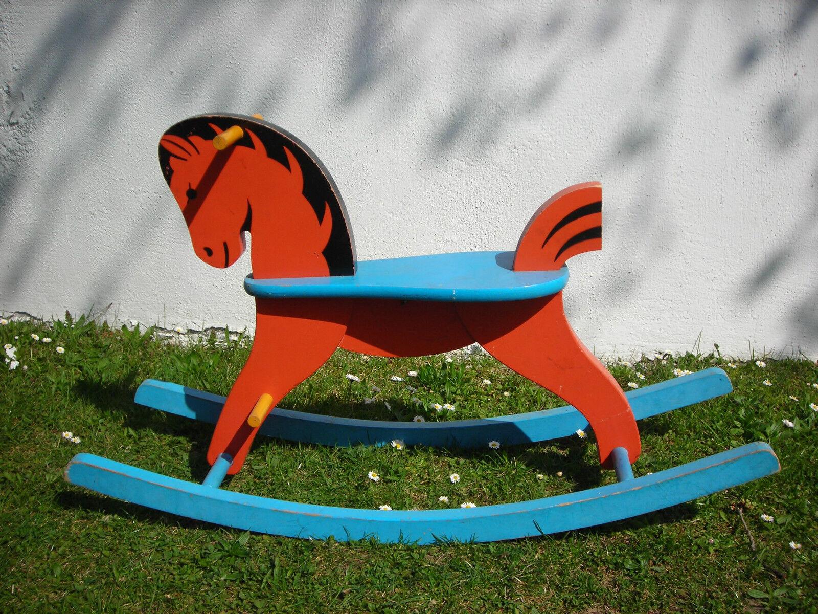 Schaukel Pferd Holz Kinder Baby Familie Spiel zeug Deko Schule Geschenk