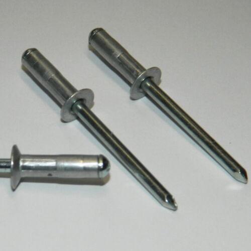 Blindnieten 4x12 Alu//Stahl Senkkopf 100 Stück Mehrbereich