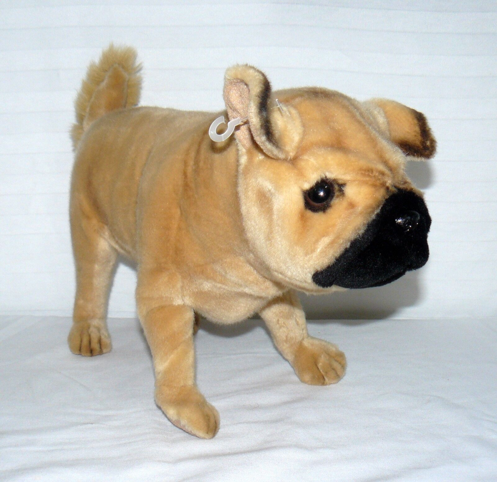HANSA STANDING LIFE LIKE PUG PUPPY DOG PLUSH 15