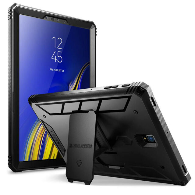 For Galaxy Tab S4 10.5 2018 Poetic【Revolution】Built-in-Screen Protector Case BK
