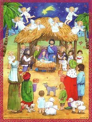 Richard Sellmer Verlag Traditional German Paper Advent Calendar Nativity Scene