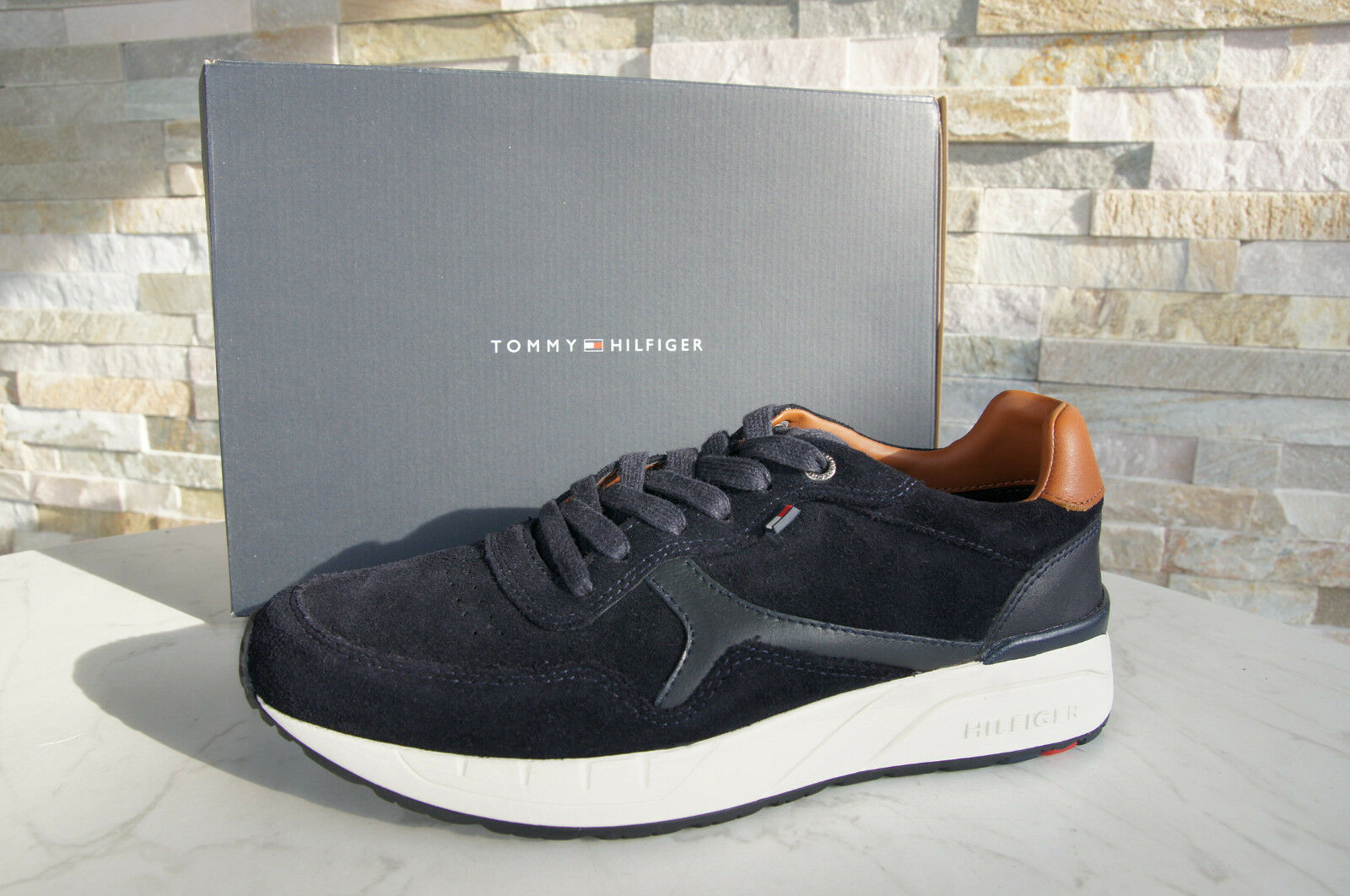 TOMMY TOMMY TOMMY HILFIGER Gr 40 Sneakers SchnürZapatos Zapatos RUSH dunkelblau NEU UVP 135 329123