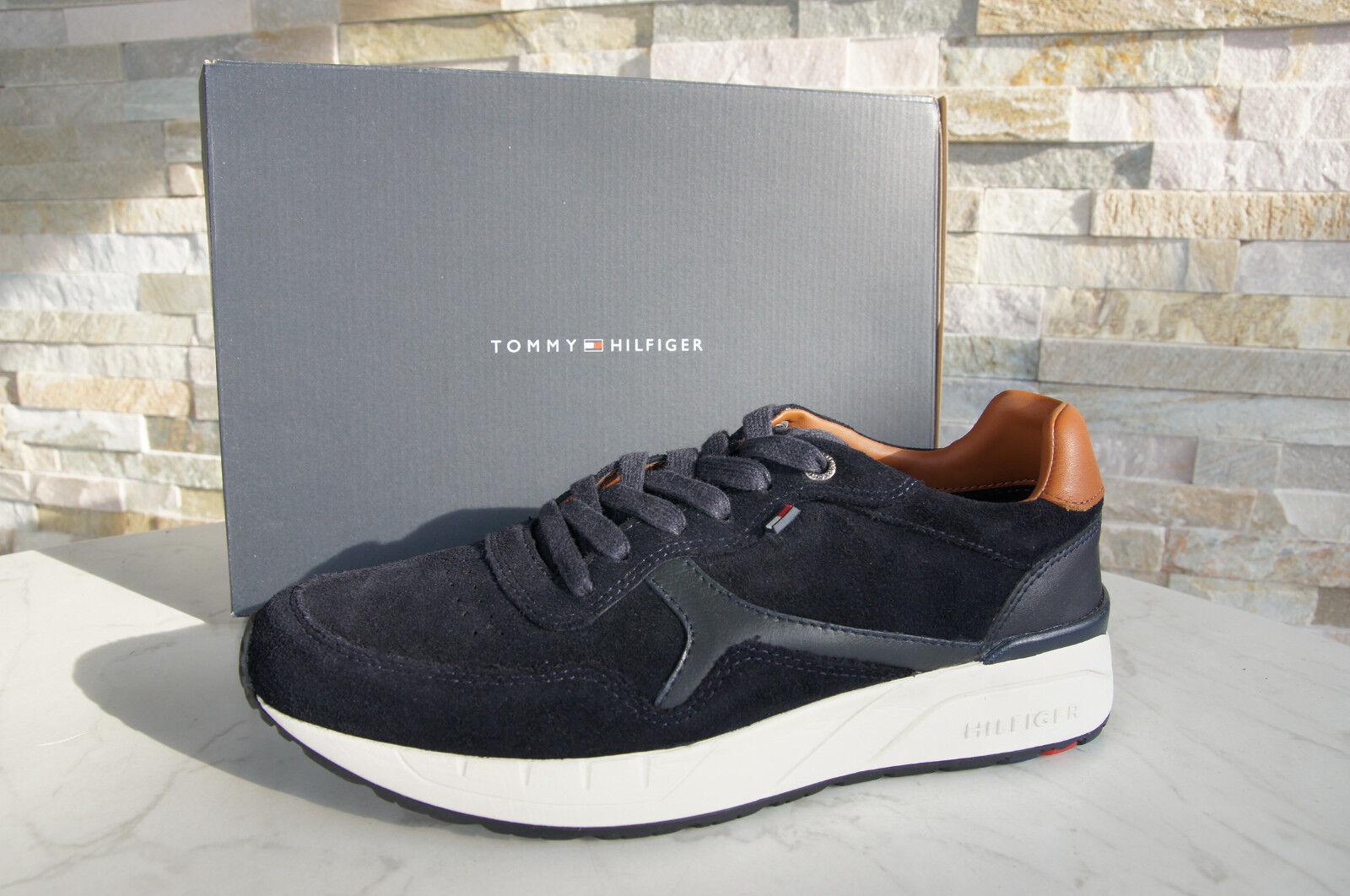 TOMMY HILFIGER Gr 41 Sneakers NEU SchnürZapatos Zapatos RUSH dunkelblau NEU Sneakers UVP 135 6b2ae5