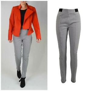 NEW-LOOK-Ladies-Black-White-Dogtooth-Trousers-Leggings-Stretch-Waist