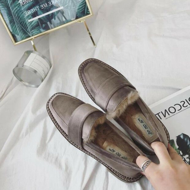 Ballerine mocassini eleganti scarpe donna classiche grigio pelo eleganti mocassini e comodi 9151 ce0bd2
