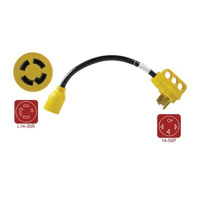 """RVA1502 RV Adapters 30 Amp Male to 15 Amp Female 12/"""" 12AWG//3 Cord"""
