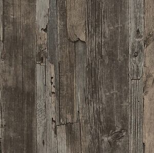 Image Is Loading French Provincial Rustic Timber Wood Effect Wallpaper In
