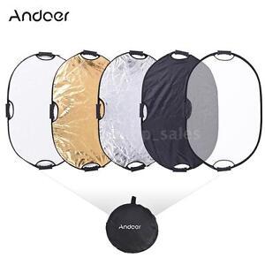 90*60cm Handheld Oval Reflector with Gold/Sliver/White/Black/Translucent Color