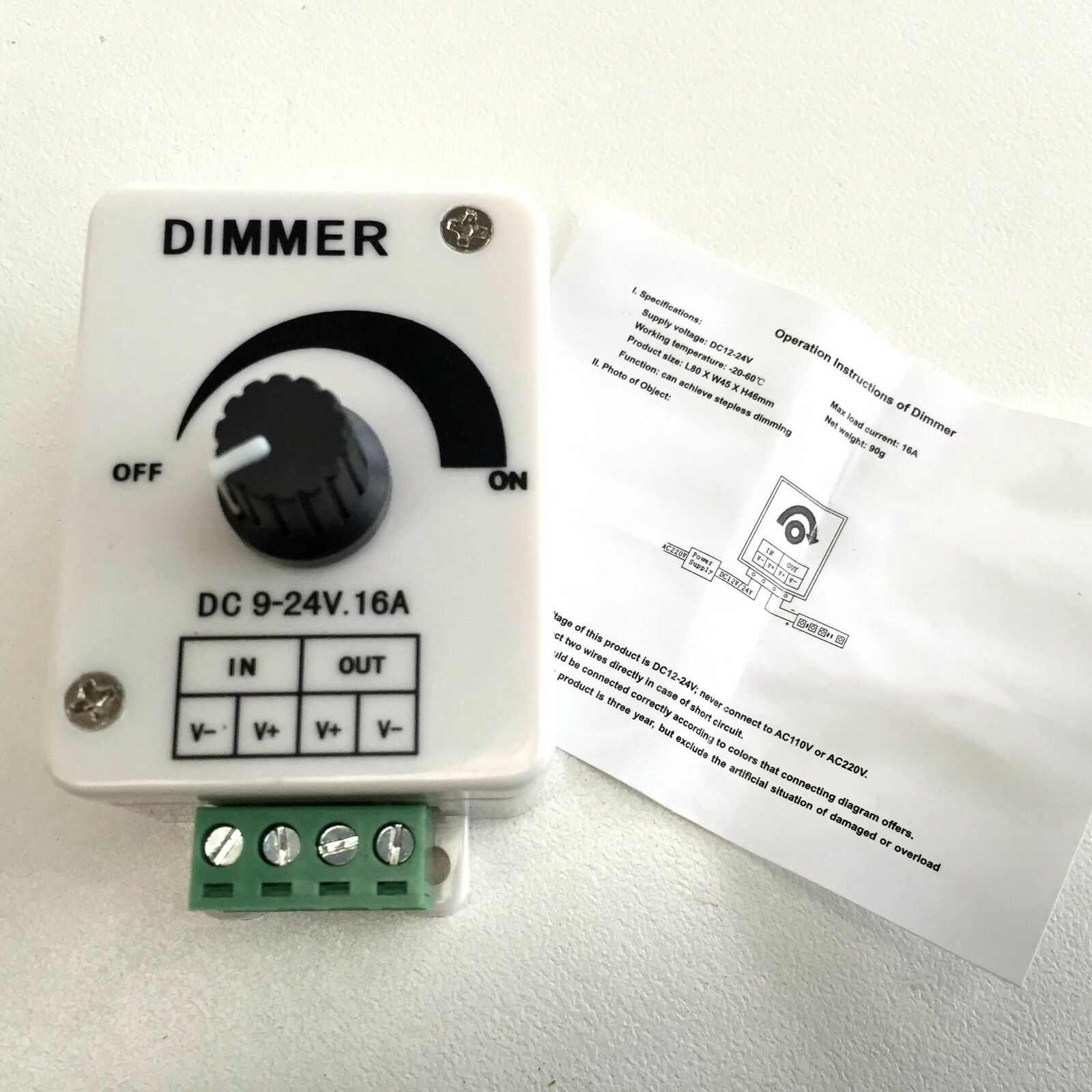 Dc 12v 16a Dimmer Switch Controller 3528 5050 Smd Led Strips For Wiring Diagram Why Buy From Us