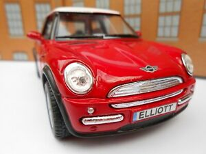 PERSONALISED PLATES MINI HATCH Model Toy Car boy girl dad BIRTHDAY gift NEW!