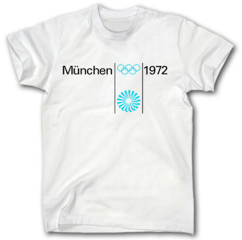 MUNICH 1972 OLYMPIC GAMES T-SHIRT S-XXXL RETRO GERMANY MUNCHEN SPORT