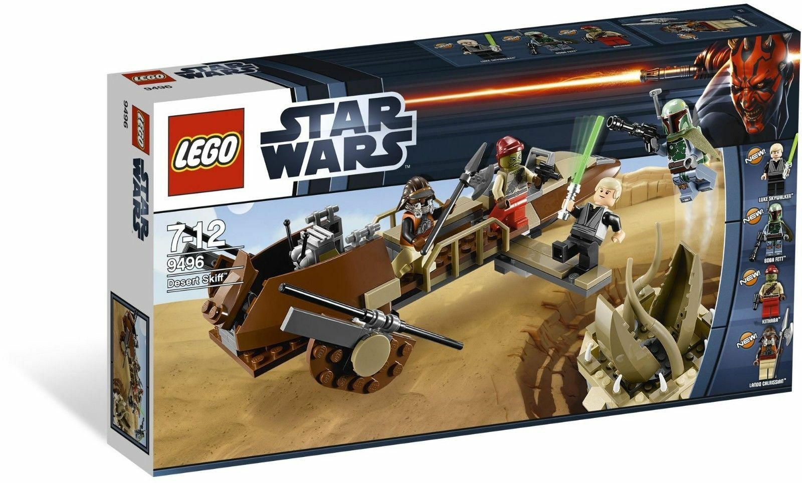 Lego Star Wars 9496 Desert Skiff, RETIRED - no minifigs but with manual 2012