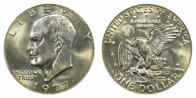 1977-D EISENHOWER BRIGHT CLEAR UNCIRCULATED DOLLAR.===BU===C//N======