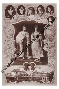 mm754-King-George-V-amp-Mary-amp-children-Coronation-souvenier-Royalty-photo-6x4