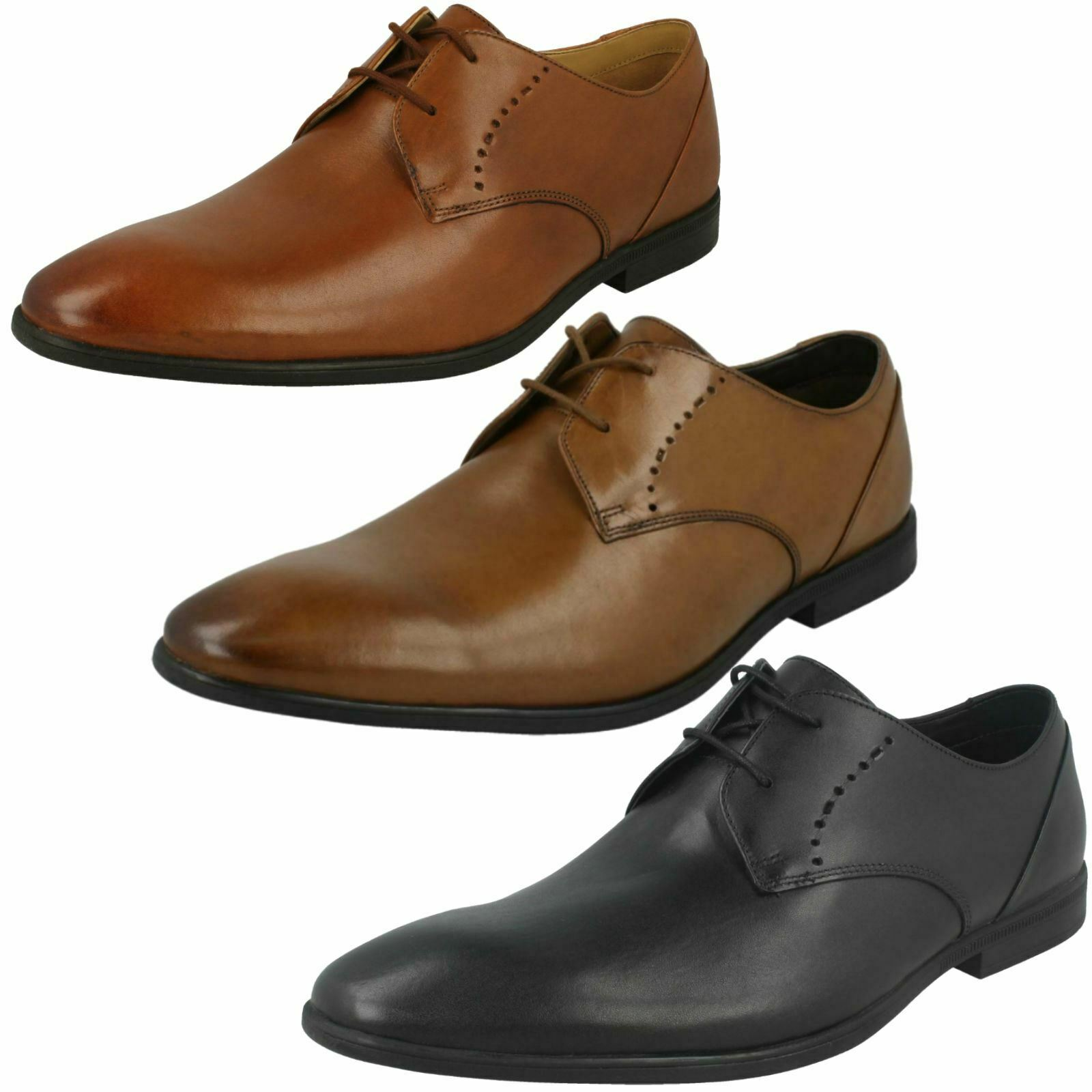 Mens Clarks Formal Lace Up schuhe 'Bampton Lace'