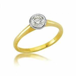 Jewelry & Watches Beautiful Solitär Damenring 333er Gold Zirkonia Ring Damen Verlobungsring Schmuck