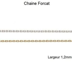 NOUVELLE-CHAINE-ARGENT-ou-Plaque-OR-MAILLE-et-Longueur-au-CHOIX